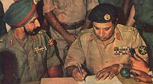 General Niazi is sighing the documents to surrender in East Pakistan