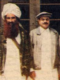 General Hamid Gul with Haqqani