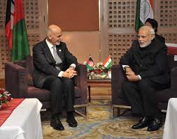 Ashraf Ghani and Narendra Modi