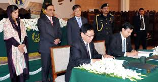 The agreement of Gwadar sea port is sighned with chinees.