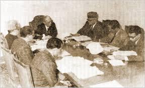 jinnah is presiding the meeting