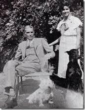 Jinnah with his daughter Dina Jinnah