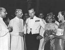 Jinnah and Liqat Ali with their British bosses