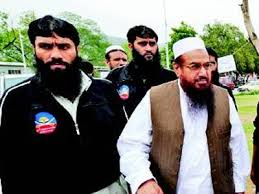 Hafiz Saeed with hin own body guard