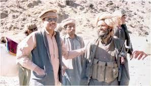 General Hamid Gul with the Mujahideen