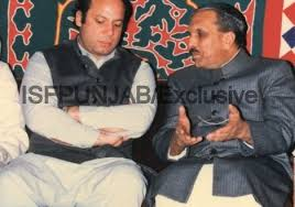 Nawaz Sharif and General Zia ul Haq