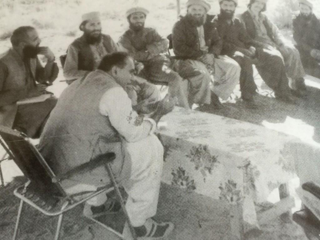 Brigadier Yousuf with Afghan Mujahideen.