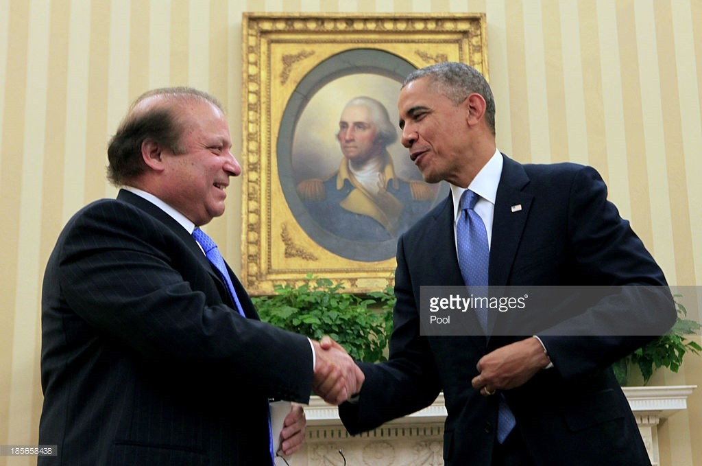 Obama , Nawaz sharif