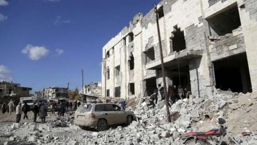 Air Strikes On Aleppo