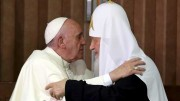 Pope And Russian Patriarch Embrace