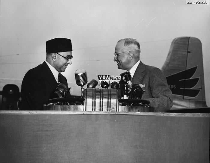 President Harry Truman and Liaqat Ali Khan
