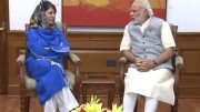 Chief Minister Mehbooba Mufti meeting with Modi