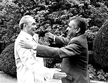 Brezhnev and Karmal