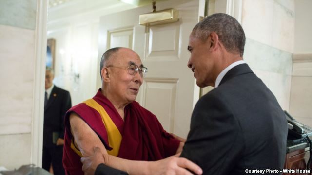 Obama Embraces Dalai Lama