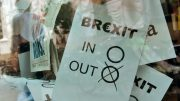 Brexit protesters in London