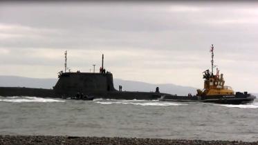 UK nuclear sub collides