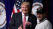 Trump accepts a Purple Heart