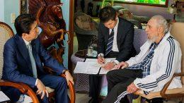 Japan's Abe meets Fidel Castro,