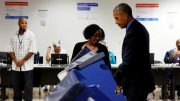 Obama casts early vote
