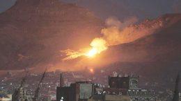 Saudis bombing Yemeni farmland