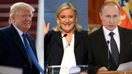 Trump-Putin-Le Pen trio