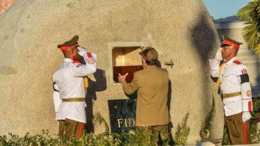 Fidel Castro interred in rock