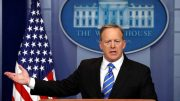 White House spokesman Sean Spicer holds a press briefing at the White House in Washington