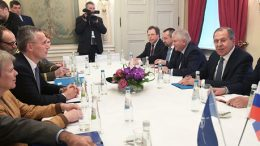 NATO's chief tells Russia's FM