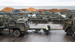 100 NATO military vehicles
