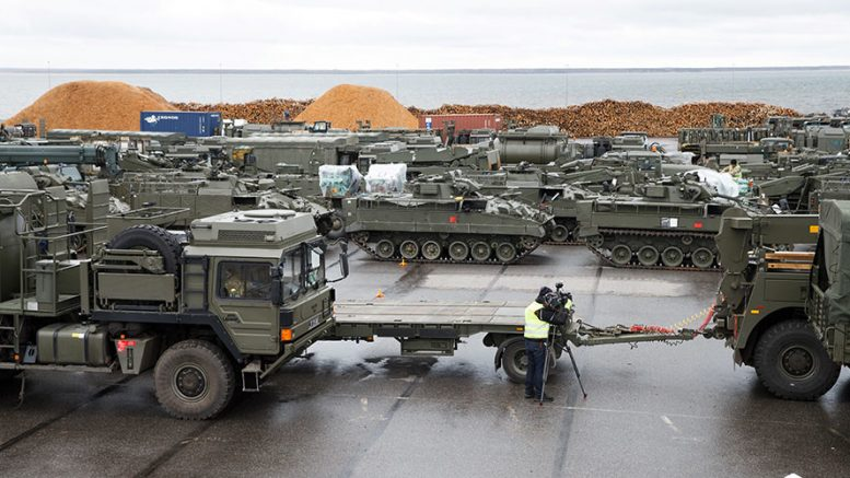 100 NATO military vehicles