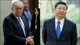 Xi Jinping and Trump meeting