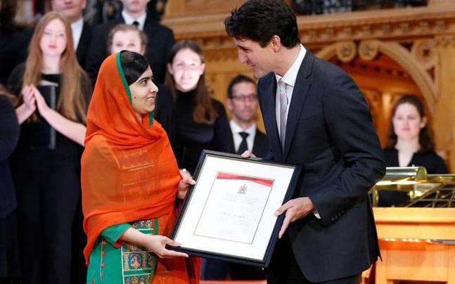 Malala Yousafzai receives honorary Canadian citizenship