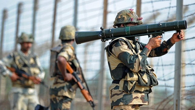 Indian army conducts artillery assaults
