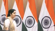 Sushma Swaraj rebuts Donald Trump: Paris pact India ethos