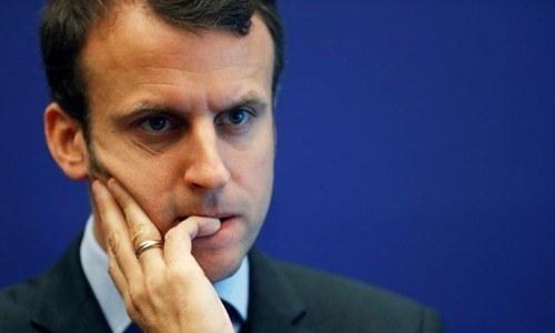 Macron chides Netanyahu
