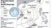 US warship near South China Sea island