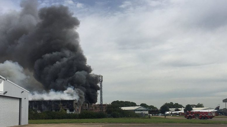 Explosion near Southend Airport, UK