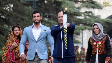 Ghani reminds of imposed war as Invictus spirit flame in Afghanistan