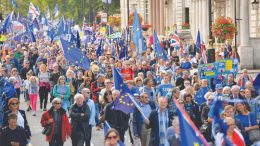 anti-Brexit march through London