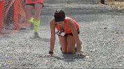 Runner Collapses Near Finishing Line.