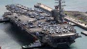 USS Ronald Reagan docks in South Korean