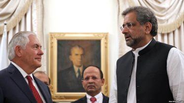 ټېلرسن: پاکستان باید د وسله والو ډلو پرضد عملیات زیات کړي