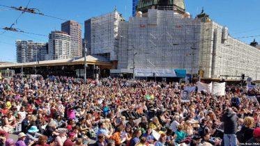 Protesters Accuse Australia