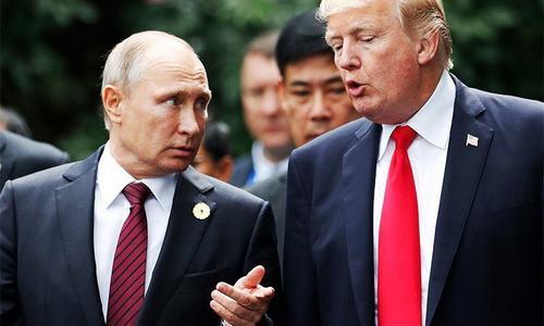 Trump mocks people opposing better ties with Russia