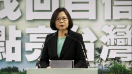 Taiwan President Tsai Ing-wen warns China against military aggression
