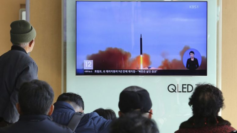 Japan, US, South Korea to Practice Missile Tracking