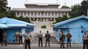 Panmunjom, where Korean soldiers and negotiators meet