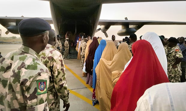 Schoolgirls seized by Boko Haram