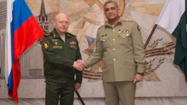 Pak Army Chief meets Russian Army Commander-in-Chief