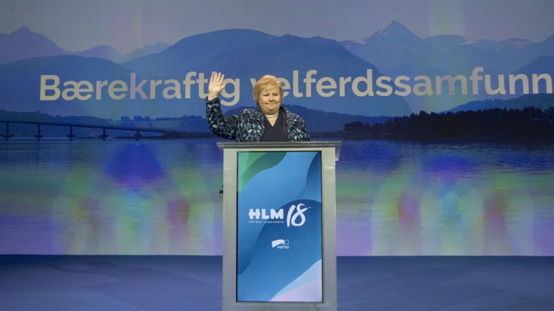 Norway's PM Solberg hits out at Trump 'protectionism' in speech